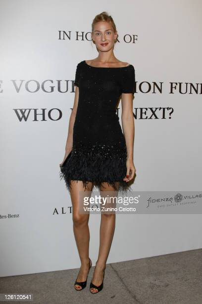 Eva Riccobono attends The Vogue Fashion Fund Who Is On Next party dring Milan Fashion Week Womenswear Spring/Summer 2012 at Palazzo Morando on...