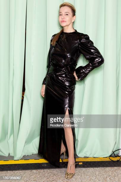 Eva robins is seen backstage at the Marco Rambaldi fashion show on February 19 2020 in Milan Italy