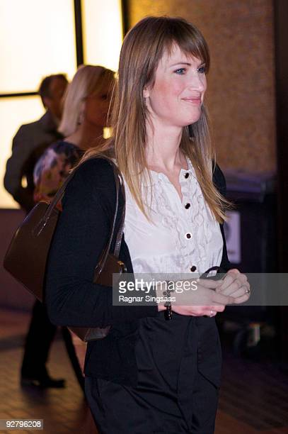 Eva Sannum attends a Charity Gala on October 29 2009 in Oslo Norway