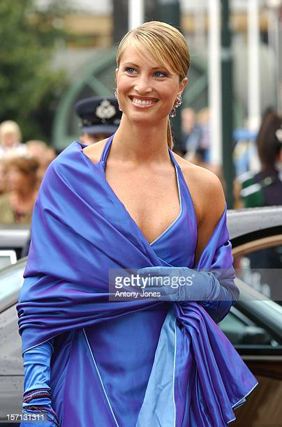 Eva Sannum Attends The Wedding Of Crown Prince Haakon Of Norway & Mette-Marit In Oslo.