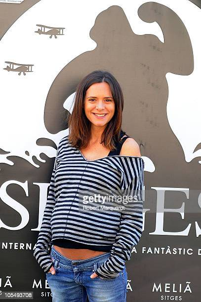 Eva Santolaria attends a photocall for her latest movie 'Herois' at the 43rd Sitges Film Festival held at the Hotel Melia on October 15, 2010 in...