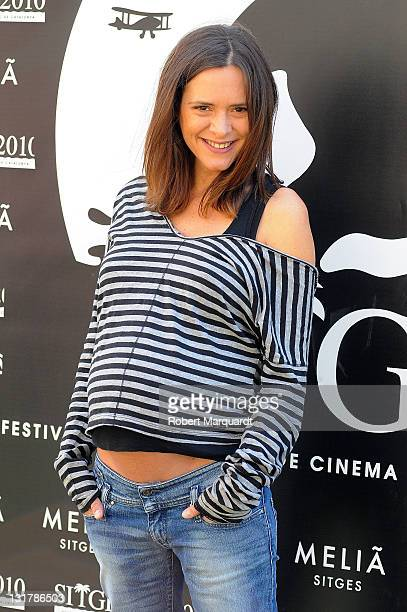 Eva Santolaria attends a photocall for her latest movie 'Herois' at the 43rd Sitges Film Festival held at the Hotel Melia on October 15 2010 in...