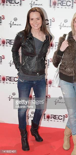 Eva Santolaria attends the 'REC 3 Genesis' premiere at Capitol cinema on March 26, 2012 in Madrid, Spain.
