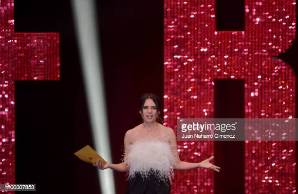 Eva Santolaria is seen during the ceremony of the Feroz Awards 2020 at Teatro Auditorio Ciudad de Alcobendas on January 16 2020 in Madrid Spain