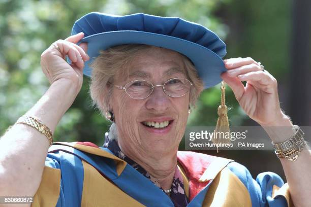 Eva Schloss stepsister of the tragic war diarist Anne Frank who was presented with an honorary Doctorate of Civil Law at Northumbria University An...