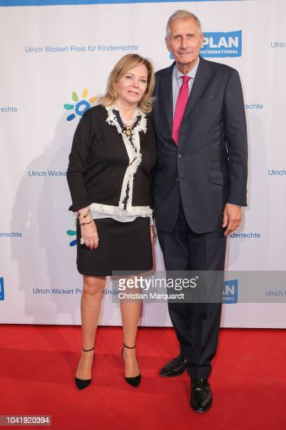 Eva SchollLatour and Ulrich Wickert attend the Ulrich Wickert and Peter SchollLatour award at Bar jeder Vernunft on September 27 2018 in Berlin...