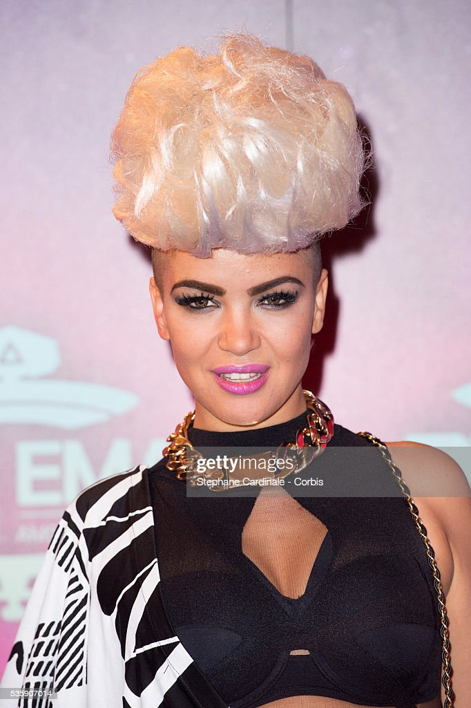 Eva Simons attends the MTV EMA's 2013 at the Ziggo Dome in Amsterdam, Netherlands.