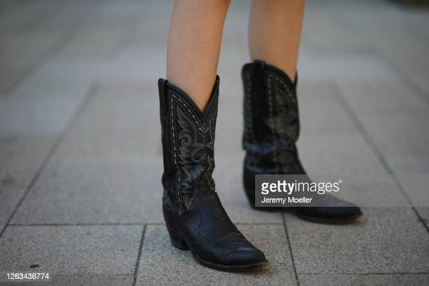 Eva Staudinger wearing vintage cowboy boots on July 31 2020 in Hamburg Germany