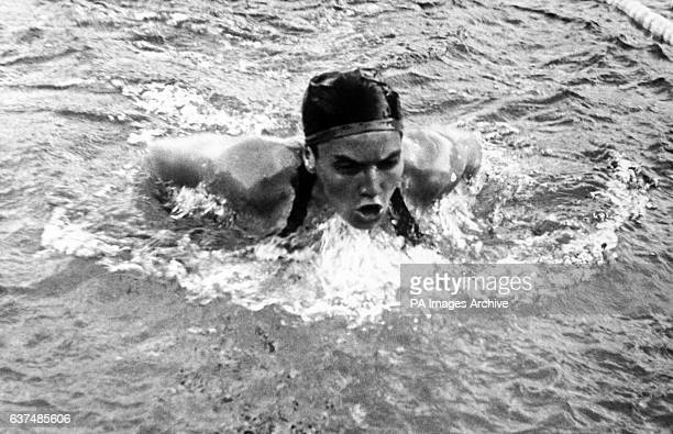Eva Szekely of Hungary in action in the 200 metres breaststroke final She won the gold medal with a time of 2 mins 517 seconds an Olympic record