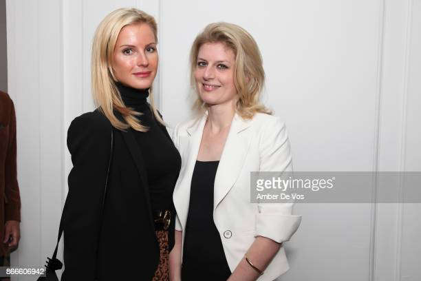 Eva Tate and Cecile Antier attend Wiener Werkstatte 19031932 The Luxury of Beauty opening reception at Neue Galerie on October 25 2017 in New York...