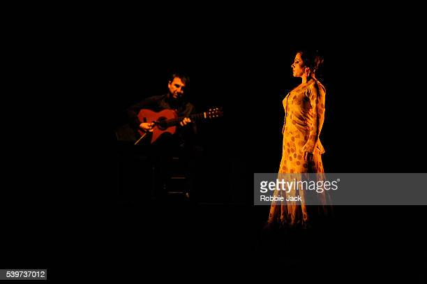 """Eva Yerbabuena performs in her production """"Signs and Wonders"""" at Sadlers Wells in London."""