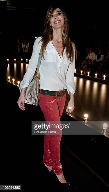 Eva Zaldivar attends the Hannibal Laguna fashion show during the Cibeles Madrid Fashion Week A/W 2011 at Ifema on February 19 2011 in Madrid Spain