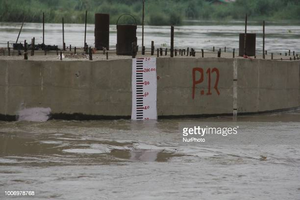 Evacuation Begins As Yamuna Water Level Crosses Danger Mark In Delhi, India, on 28 July 2081. The river water level rose as authorities released more...
