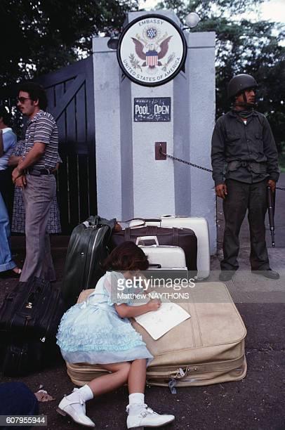 Evacuation de l'ambassade américaine en juin 1979 àManagua au Nicaragua