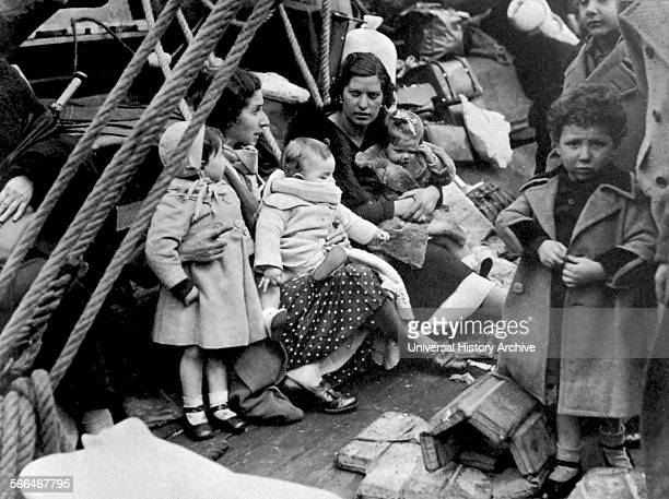 Evacuation of infant children from Santander during the Spanish Civil War 1937