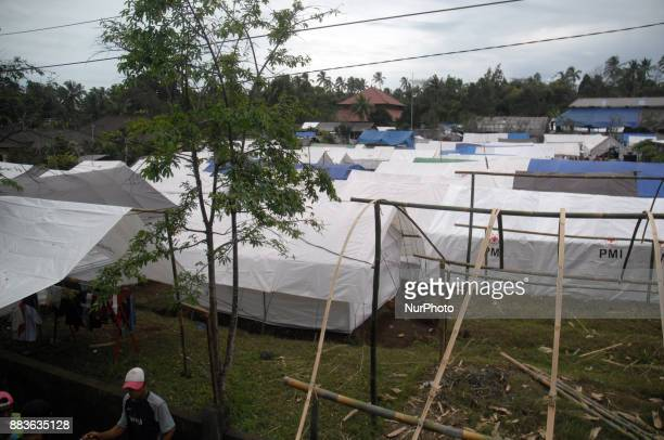 Evacuation tent increased when Residents around the danger zone of Gunung Agung began to occupy the stake post in Rendamg Karangasem Bali In December...