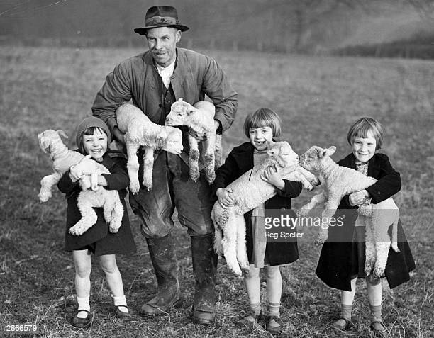 Evacuees from London to a Sussex farm are enchanted by the first lambs of the year on New Year's Day