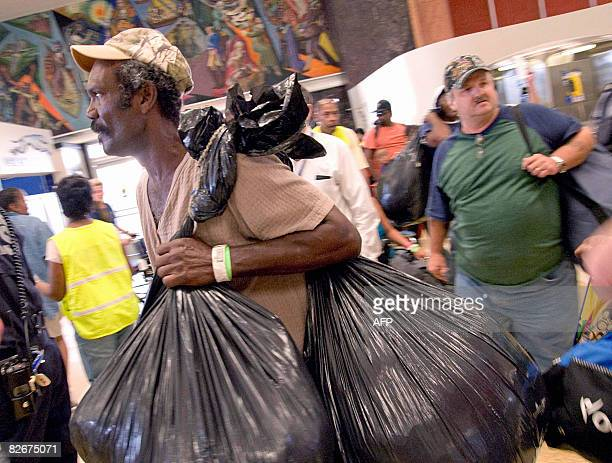 Evacuees from New Orleans arrive at Union Passenger Terminal in New Orleans from Memphis Tennessee on September 5 2008 An estimated 20000 people fled...