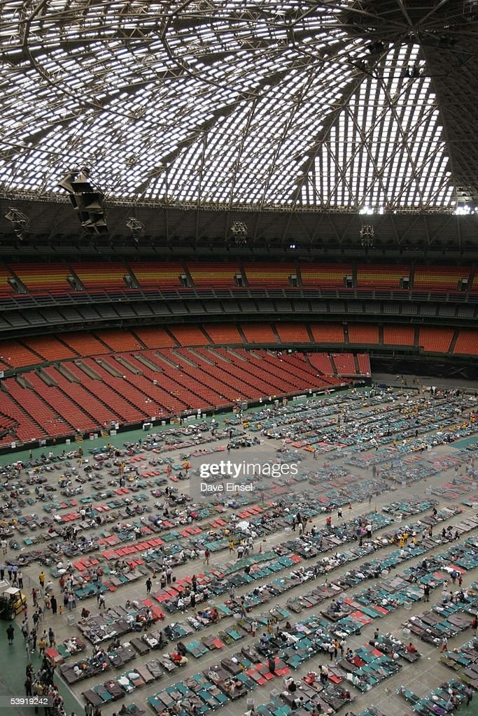 Shelters For Katrina Victims Relocated To Houston : News Photo