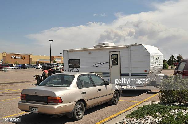 Evacuees of Black Forest Fire are camped at the parking of Walmart in Colorado Springs Colorado Springs Colorado June 12 2013