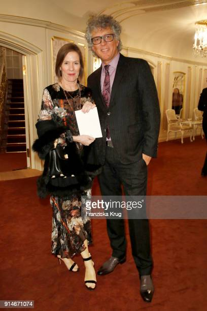 EvaKim Wempe and Fritz Ahrens during the Rolex Arts Initiative Ceremony at Staatsoper on February 5 2018 in Berlin Germany