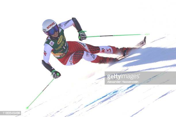 EvaMaria Brem of Austria competes during the Audi FIS Alpine Ski World Cup Women's Giant Slalom at Rettenbachferner on October 26 2019 in Soelden...