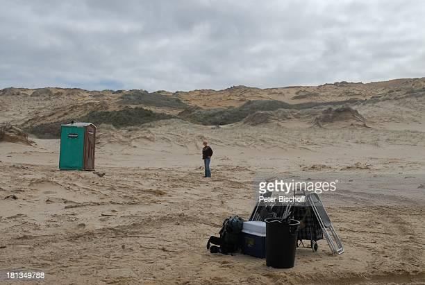 EvaMaria Grein am Rande der Dreharbeiten zur ZDFReihe Kreuzfahrt ins Glück Folge 2 Hochzeitsreise nach Neuseeland 90MilesBeach Nordinsel Neuseeland...
