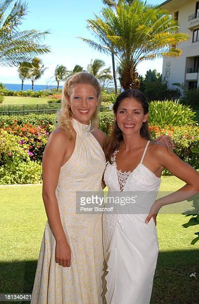 EvaMaria Grein Katja Woywood Dreharbeiten zur ZDFReihe Kreuzfahrt ins Glück Folge 3 Hochzeitsreise nach Hawaii Grand HyattHotel Kauai Hawaiian Island...