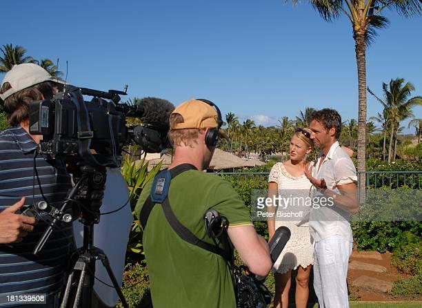 """Eva-Maria Grein, Patrik Fichte, Fernseh-Team von ZDF-""""Hallo Deutschland"""", private Exklusiv-Fotos der ZDF-Hochzeitsplaner am Rande der Dreharbeiten..."""