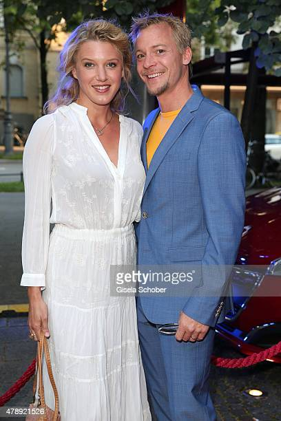 EvaMaria Grein von Friedl and her husband Christoph von Friedl during the Peugeot BVC Castingnight Summer 2015 at Kaeferschaenke on June 28 2015 in...