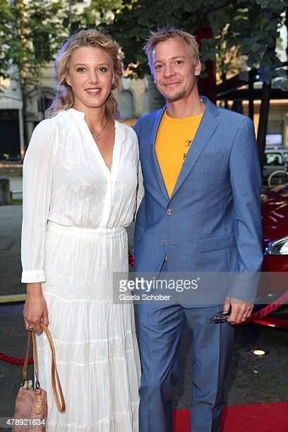 Eva-Maria Grein von Friedl and her husband Christoph von Friedl during the Peugeot - BVC - Castingnight Summer 2015 at Kaeferschaenke on June 28,...