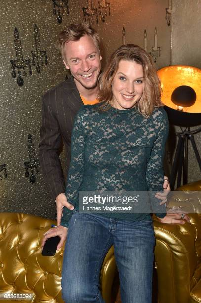 Eva-Maria Grein von Friedl and her husband Christoph von Friedl the NdF after work press cocktail at Parkcafe on March 15, 2017 in Munich, Germany.