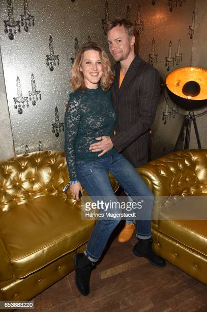 EvaMaria Grein von Friedl and her husband Christoph von Friedl the NdF after work press cocktail at Parkcafe on March 15 2017 in Munich Germany