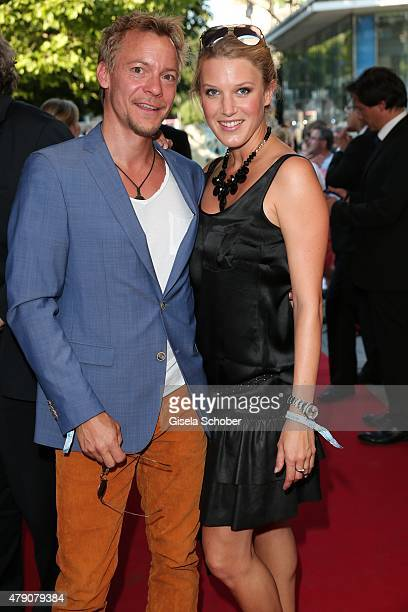 EvaMaria Greindl von Friedl and her husband Christoph von Friedl attend the Bavaria Film reception during the Munich Film Festival at Kuenstlerhaus...