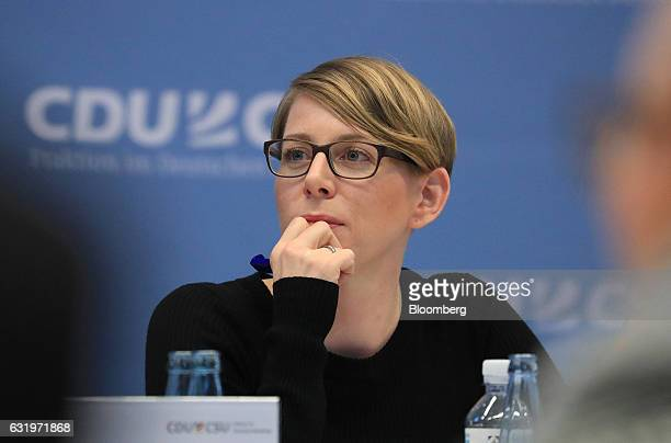 EvaMaria Kirschsieper head of public policy at Facebook Inc pauses during a conference on combating political hate speech and fake news on social...