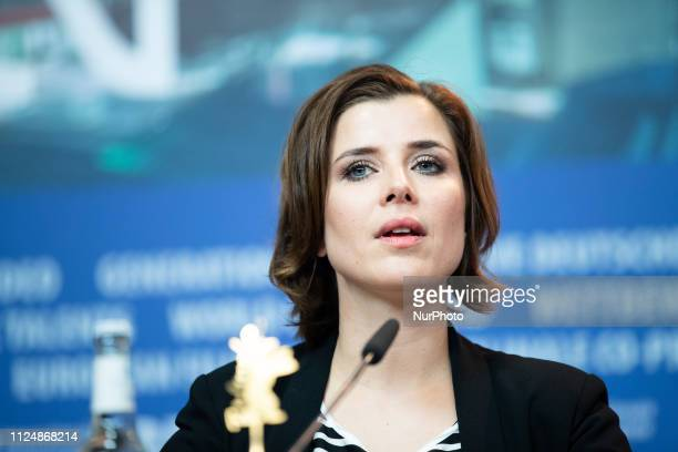EvaMaria Lemke attends the 'The Breath'' press conference during the 69th Berlinale International Film Festival Berlin at Grand Hyatt Hotel on...