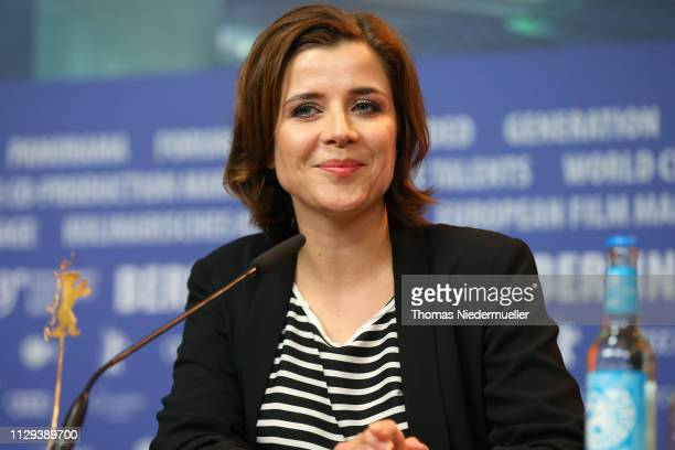 EvaMaria Lemke attends the The Breath press conference during the 69th Berlinale International Film Festival Berlin at Grand Hyatt Hotel on February...