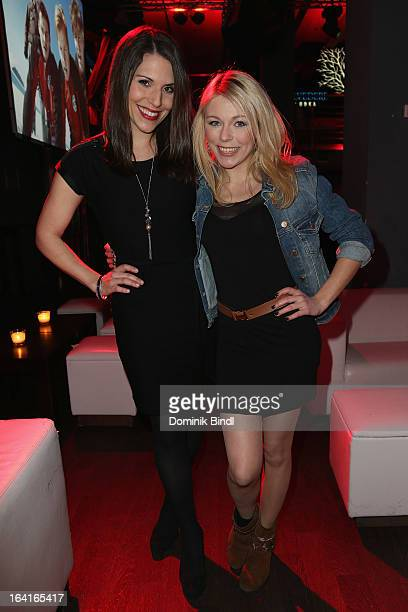 Eva-Maria Reichert and Anna Ewelina attend the Ndf Afterwork Party at 8 Seasons on March 20, 2013 in Munich, Germany.