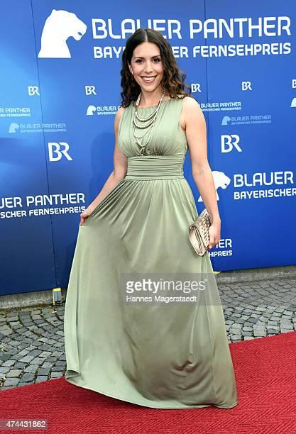 EvaMaria Reichert arrives for the Bayerischer Fernsehpreis 2015 at Prinzregententheater on May 22 2015 in Munich Germany