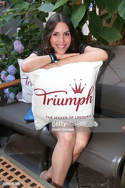 EvaMaria Reichert attends the Triumph Filmfest Cocktail at Cortiina Bar on June 25 2015 in Munich Germany