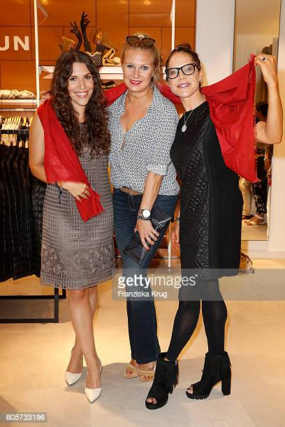 EvaMaria Reichert Magdalena Brzeska and Doreen Dietel attend the Gerry Weber shop opening on September 14 2016 in Munich Germany