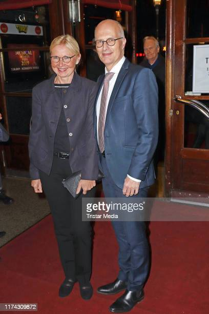 """Eva-Maria Tschentscher and Peter Tschentscher attend the """"Deutscher Musical Theater Preis"""" at Tivoli theater on October 7, 2019 in Hamburg, Germany."""