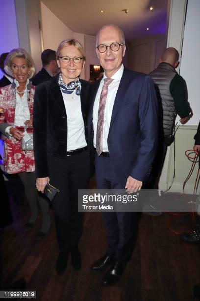 Eva-Maria Tschentscher, Peter Tschentscher during the Blankeneser new year reception on January 9, 2020 in Hamburg, Germany.