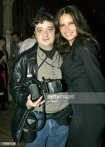 Evan Agostini and Adriana Lima during Victoria's Secret Backstage Sexy Photo Book Preview AfterParty at Spice Market in New York City New York United...