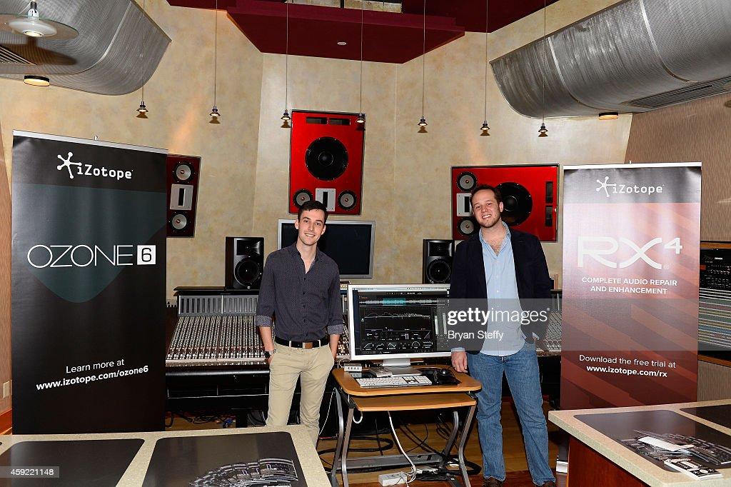 Evan Allen and Martin Nessi attend En La Mezcla! P&E Wing