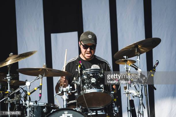 Evan Ambrosio of State Champs performs on stage during day 3 of Download festival 2019 at La Caja Magica on June 30 2019 in Madrid Spain