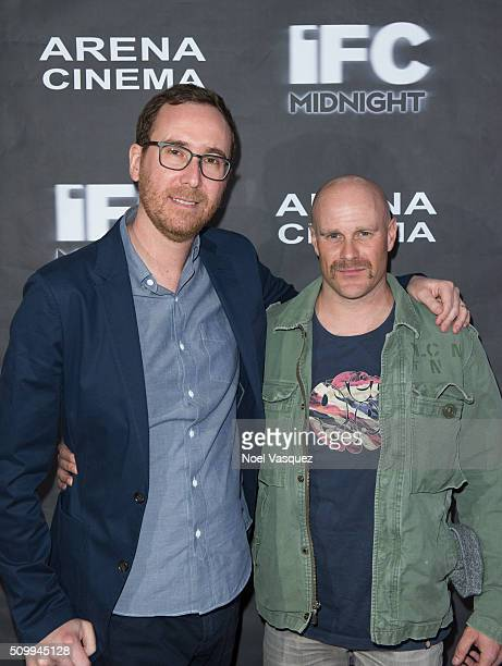 Evan Astrowsky and Chris Lemole attend the Cabin Fever Los Angeles Premiere at Arena Cinema Hollywood on February 12 2016 in Hollywood California