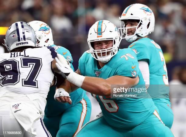 Evan Boehm of the Miami Dolphins at ATT Stadium on September 22 2019 in Arlington Texas