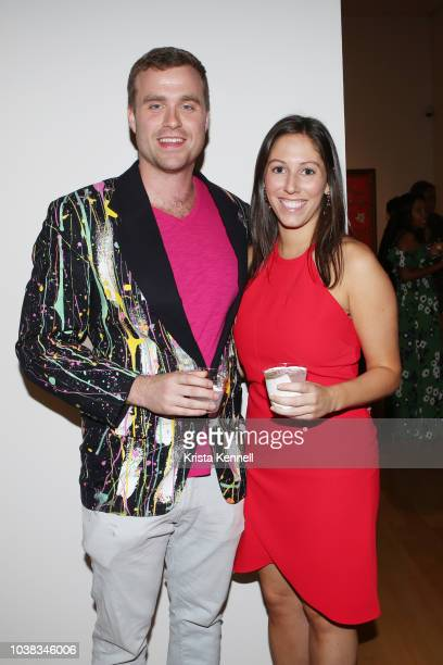 Evan Borno and Katie Irving at Thomas Keown 40th Birthday To Benefit Many Hopes on September 22 2018 in New York City