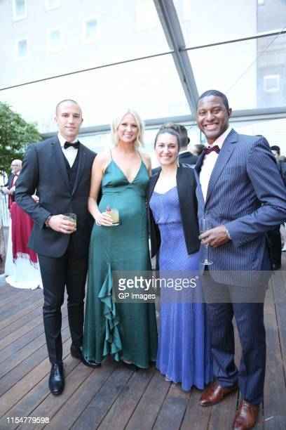 Evan Bush Colleen Bush Melisa Barile and Patrice Bernier attend Artists For Peace And Justice inaugural Montreal Gala honoring Arcade Fire raises...
